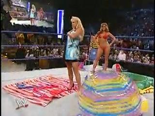 [wrestling museum]wwe smackdown 03.06.2004 - torrie wilson, sable, dawn marie summer bikini contest