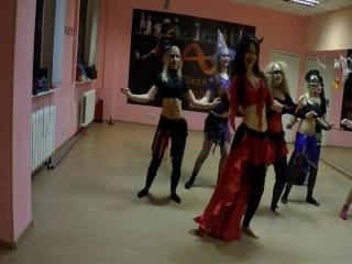 Хэллоуин в школе танцев Plastic Dance. Танец живота. Преподаватель Сидорова Наталья.