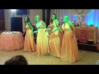 Песня, танец, поздравление подружек невесты, наша свадьба 27.07.13