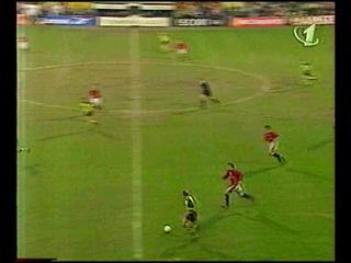Лига Чемпионов 1996 1997 1 2 финала Первый матч Боруссия Манчестер Юнайтед 1 тайм