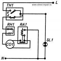 Схема электрическая бытового кондиционера.