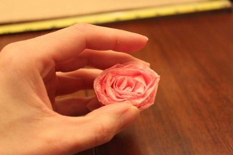 Топиарий розы из бумаги своими руками