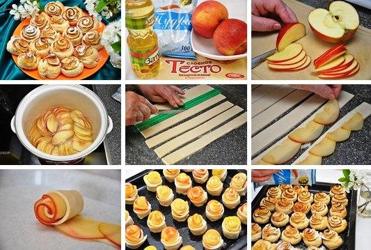 яблоки в слоеном тесте рецепт с фото пошагово