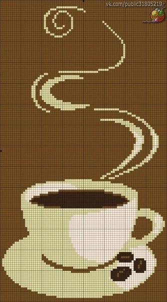 ✨ Вышивка крестиком. Для кофеманов и любителей чая. ============================== ✂ #hand_made #сделай_сам #мастер_классы