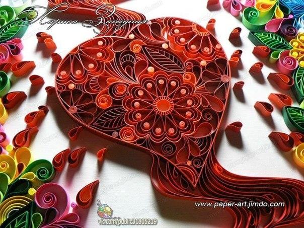 ✨ Сердечки в технике квиллинг ============================== ✂ #hand_made #сделай_сам #мастер_классы
