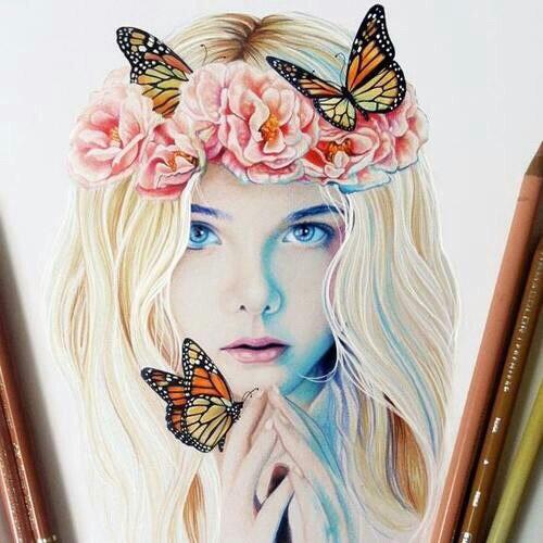 картинки на аву девушки рисованные