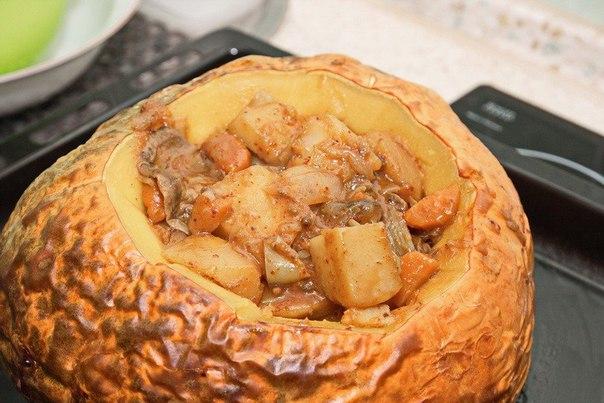 Баранина в тыкве (рецепт с пошаговыми фото)