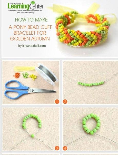 Как сделать из бисера красивый браслет из бисера
