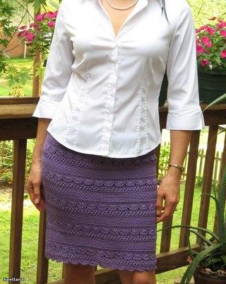 Прямая юбка #вязание #крючком
