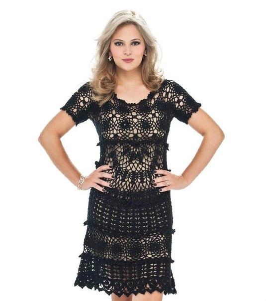 Ажурное платье (4 фото) - картинка