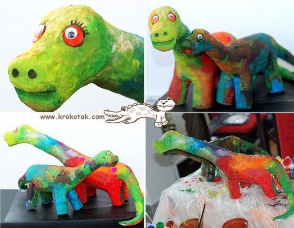Динозавр из пластиковых бутылок своими руками 88