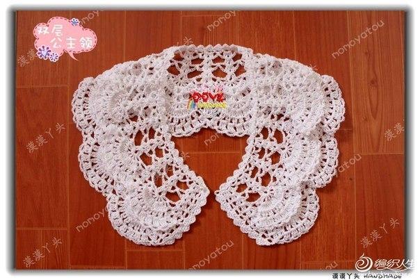 Воротник для платья вязание крючком схемы