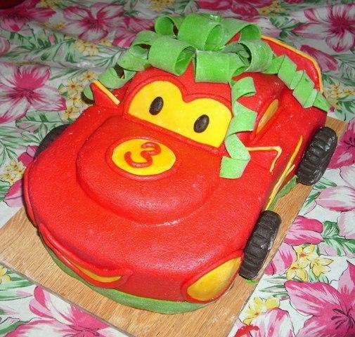 Машинка на торт из мастики своими руками