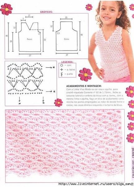 Схемы вязания крючком для девочки 6 лет 27