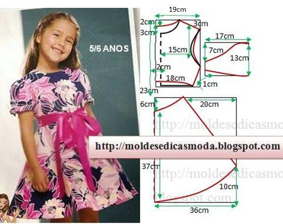 Выкройки платьец на девочку 5-6 лет (10 фото)