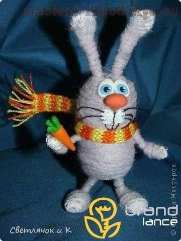 Как сделать зайца из ниток
