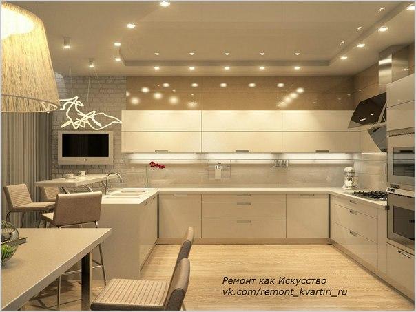 Кухни бежевые дизайн фото