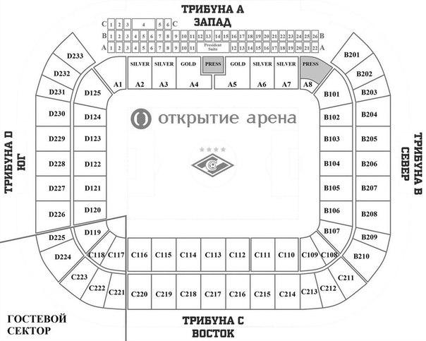 Открытие арена места схема