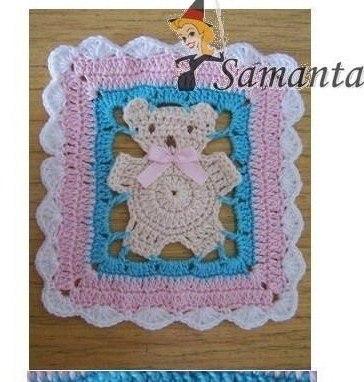 Delicadezas en crochet gabriela manta infantil con - Mantas con fotos ...