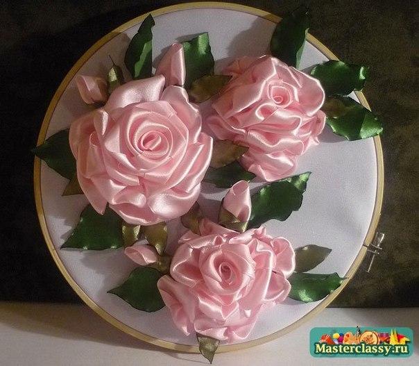 Вышивки роз из лент схемы для начинающих 56