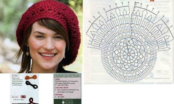 Delicadezas en crochet Gabriela: Boina diseño francés en ganchillo