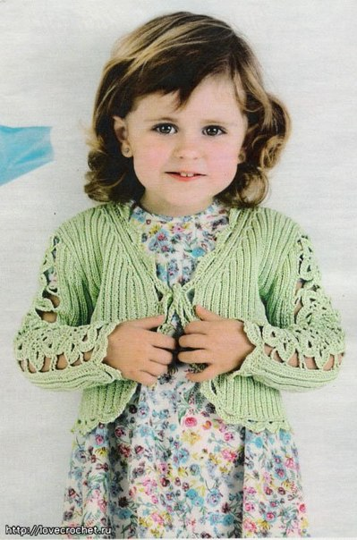Жакетик на девочку (4 фото) - картинка