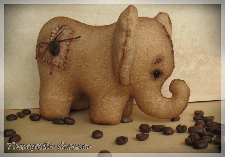 Кофейные слоники выкройка