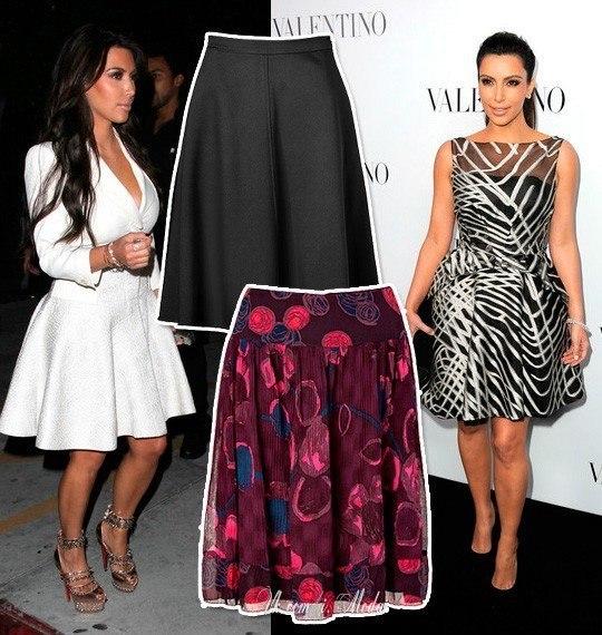 Форма юбки при широких бёдрах