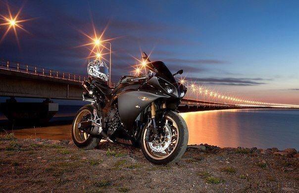 Утро, поздравления с днем рождения с картинкой мотоцикл