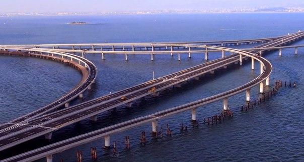 Циндаоский мост в Китае — самый длинный мост через водные пространства, который соединяет город Циндао с районом Хуандао