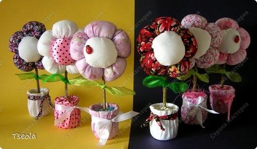 Из ткани сшить цветы