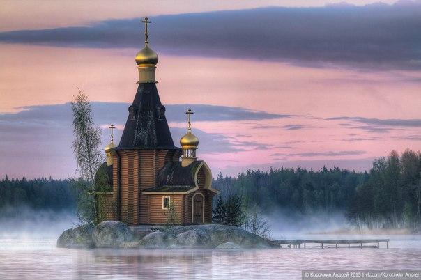 Церковь Андрея Первозванного на реке Вуоксе. Ленинградская область. Автор фото: Андрей Корочкин.