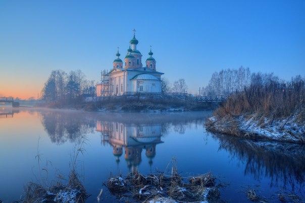 Вечер в городе Олонец, Карелия. Фотограф — Сергей Гармашов