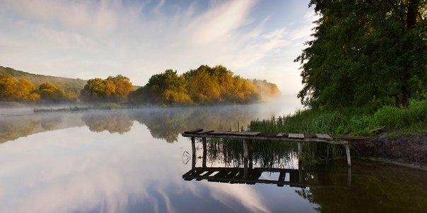 Тихое утро на реке Северский Донец. Фотограф — Виктор Тулбанов