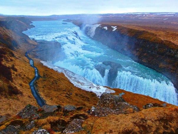 Водопад Гюдльфосс, Исландия. Автор фото — Андрей Жигунов: nat-geo.ru/photo/user/50658/