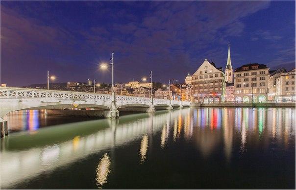 Ночной Цюрих в снимках наших читателей. Напоминаем, что осталось всего несколько дней до окончания фотоконкурса «Мой Цюрих — ворота в Швейцарию»: nat-geo.ru/~Zurich