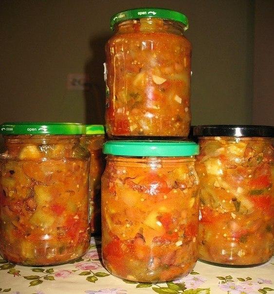 Консервирование салатов на зиму с фасолью фото
