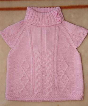 Розовая жилетка для девочки (3 фото)
