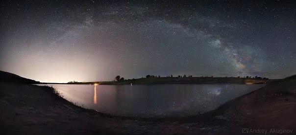 Панорама Млечного Пути. Калмыкия. Автор фото: Андрей Акугинов. Добрых снов.