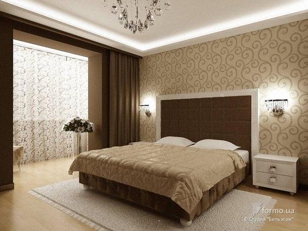 """Кремовые оттенки, Студия """"Бельэтаж"""", Спальня, Дизайн интерьеров..."""