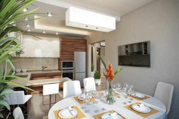 Кухня гостиная (4 фото) - картинка