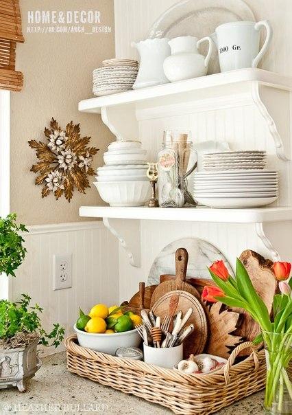 Полочки на кухне (6 фото) - картинка