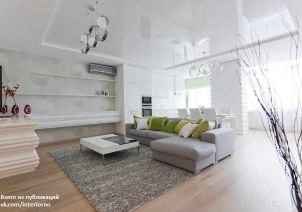 Дизайн прямоугольного зала в квартире