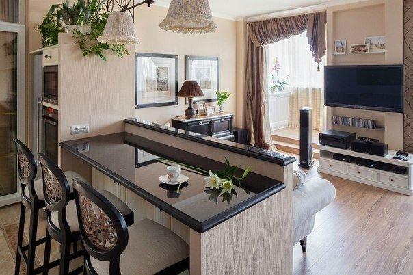 Кухня гостиная (1 фото) - картинка