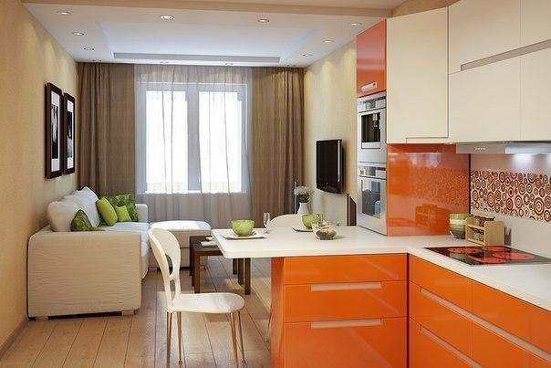 Гостиная кухня (1 фото) - картинка