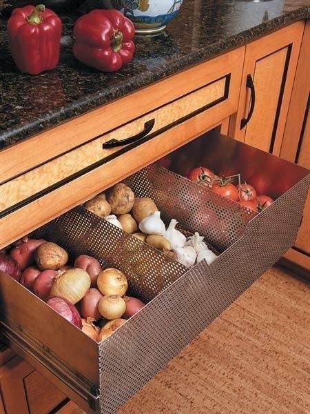 Выдвижные идеи для кухни (6 фото) - картинка