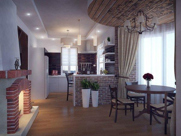 Кухня столовая гостиная (4 фото) - картинка