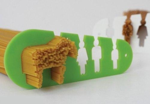 Наглядная линейка, которая поможет определиться с порцией спагетти.