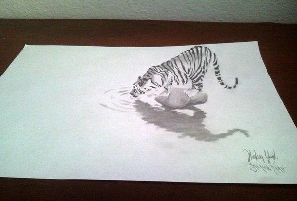 3D рисунок карандашом.