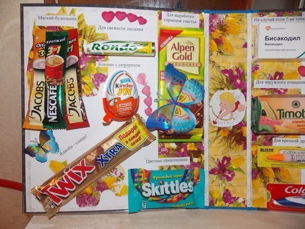 Плакаты на день рождения со сладостями своими руками папе